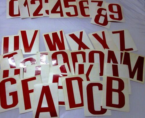 5 bonus Couleur ROUGE Lettres Autocollantes Jeu Alphabet et Chiffres Complets