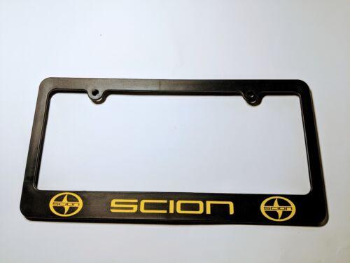 Scion logo Plastic License Plate Holder Frames Vinyl Decal iM iA TC FR-S Yellow