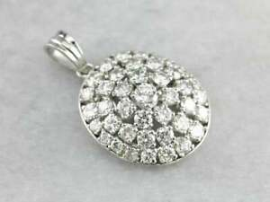 3-00-CT-Round-Diamond-Cluster-Anniversary-Pendant-18-034-Necklace-14k-White-Gold-GP