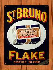 "TIN-UPS TIN SIGN ""St. Bruno Flake"" EMPIRE BLEND TOBACCO ROUGH Wall Decor"