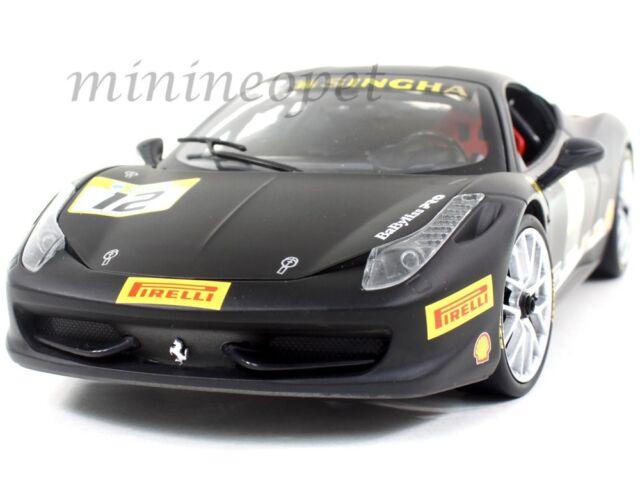 Hot Wheels Ferrari 458 Challenge Racing 12 Black 1 18 Diecast Car