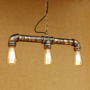 Steampunk industrial lighting iron pipe edison bulb ceiling bar image is loading steampunk industrial lighting iron pipe edison bulb ceiling aloadofball Image collections