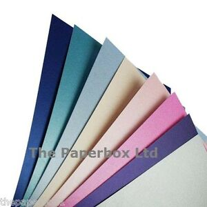 20 A4 White Ice Gold Cream Ice Gold Pearl Shimmer Double Sided Paper 120gsm