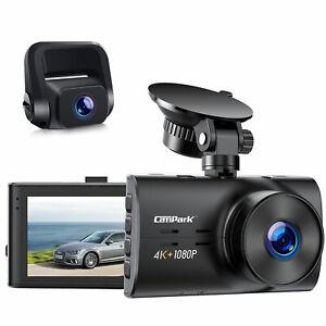 FHD 4K+2160P Dual Lens Dash Cam Autokamera G-Sensor DVR Camera Nachisicht H.265