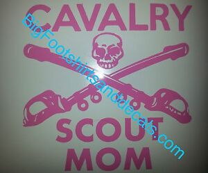 Cavalry Crossed Swords Decal Sticker Military Sabers Car Truck Window Laptop