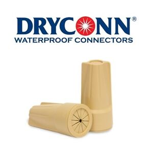 DryConn-20122-50-Pack-Tan-Waterproof-Connector-Petroleum-Filled-King-Innovation