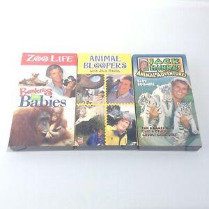 JACK HANNA VHS TAPE LOT Zoo Life ANIMAL BLOOPERS Animal Adventures Bonkers Babie