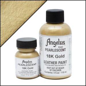 Angelus Acryl Lederfarbe Pearlescent 18K Gold (455) 118ml (105,93€/1L)