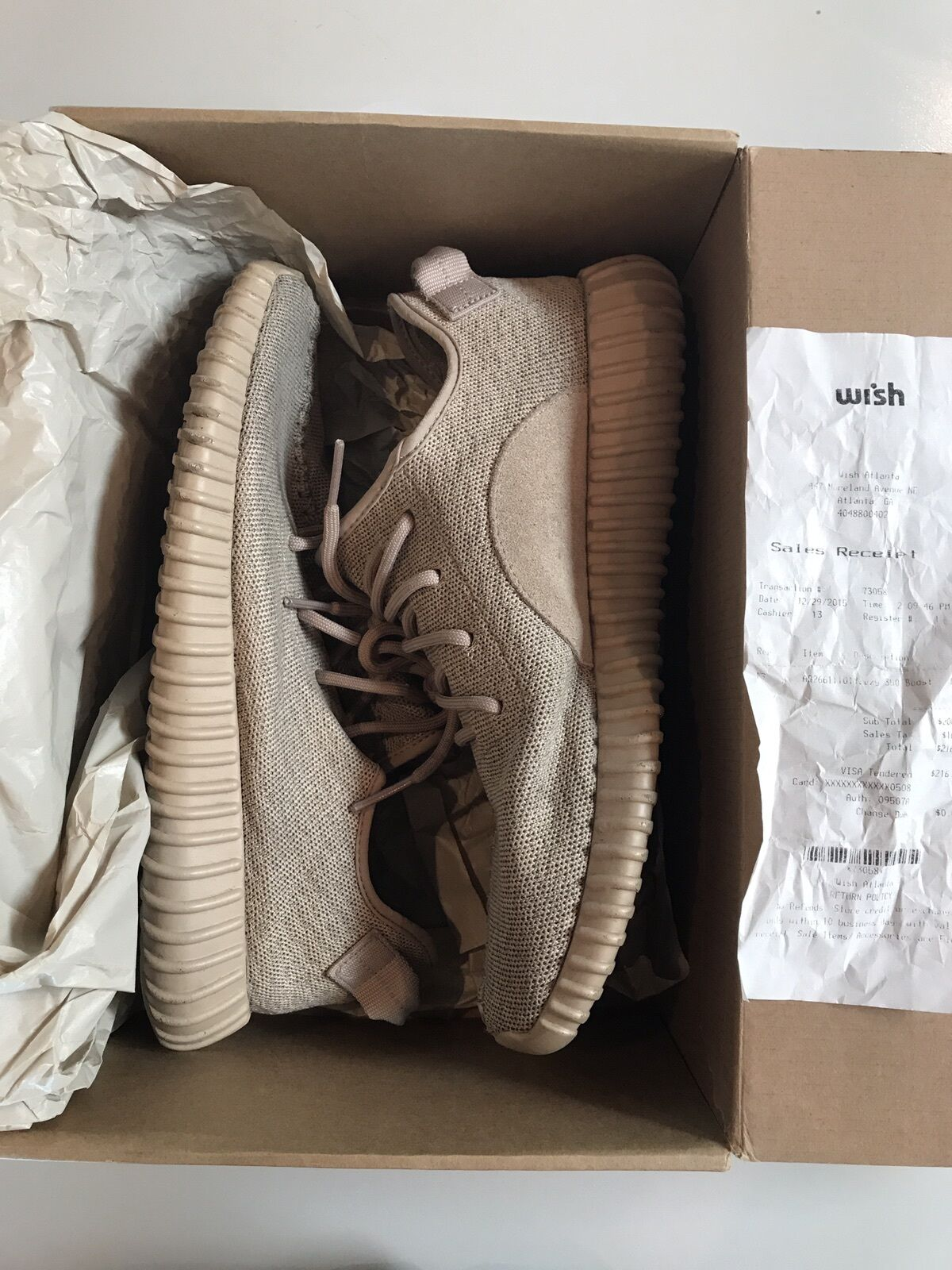Authentic Adidas Yeezy Boost 350 Oxford Tan Comfortable