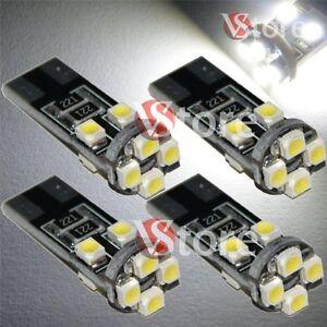 4-Lampade-Led-T10-Canbus-8-SMD-3528-No-Errore-Luci-BIANCO-Xenon-Lampadine