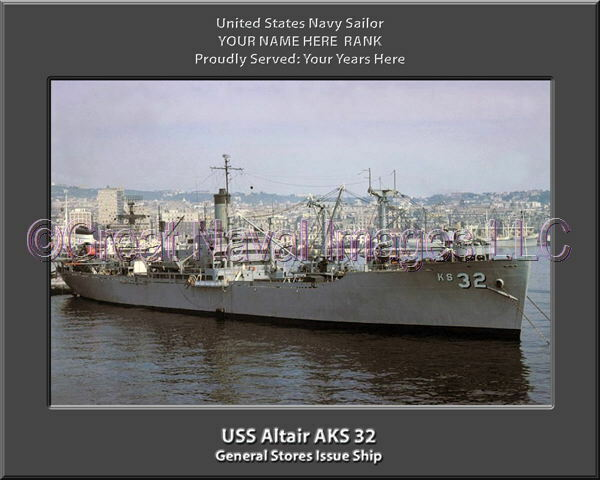 USS Altair AKS 32 Personalized Canvas Ship Photo Print Navy Veteran Gift