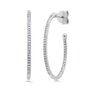 0-26-CT-14K-White-Gold-Oval-Hoop-Inside-Out-Diamond-Earrings-1-00-034-x-0-75-034