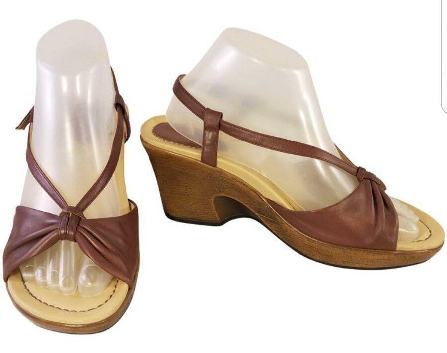 ~ EUR Dansko ~ woman SANDALS SLINGBACK BROWN  leather EUR ~ 39/   8.5  EUC fd454e