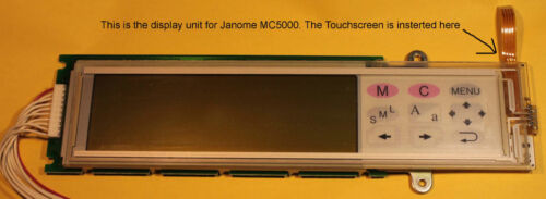 JANOME MC5000 TOUCH SCREEN