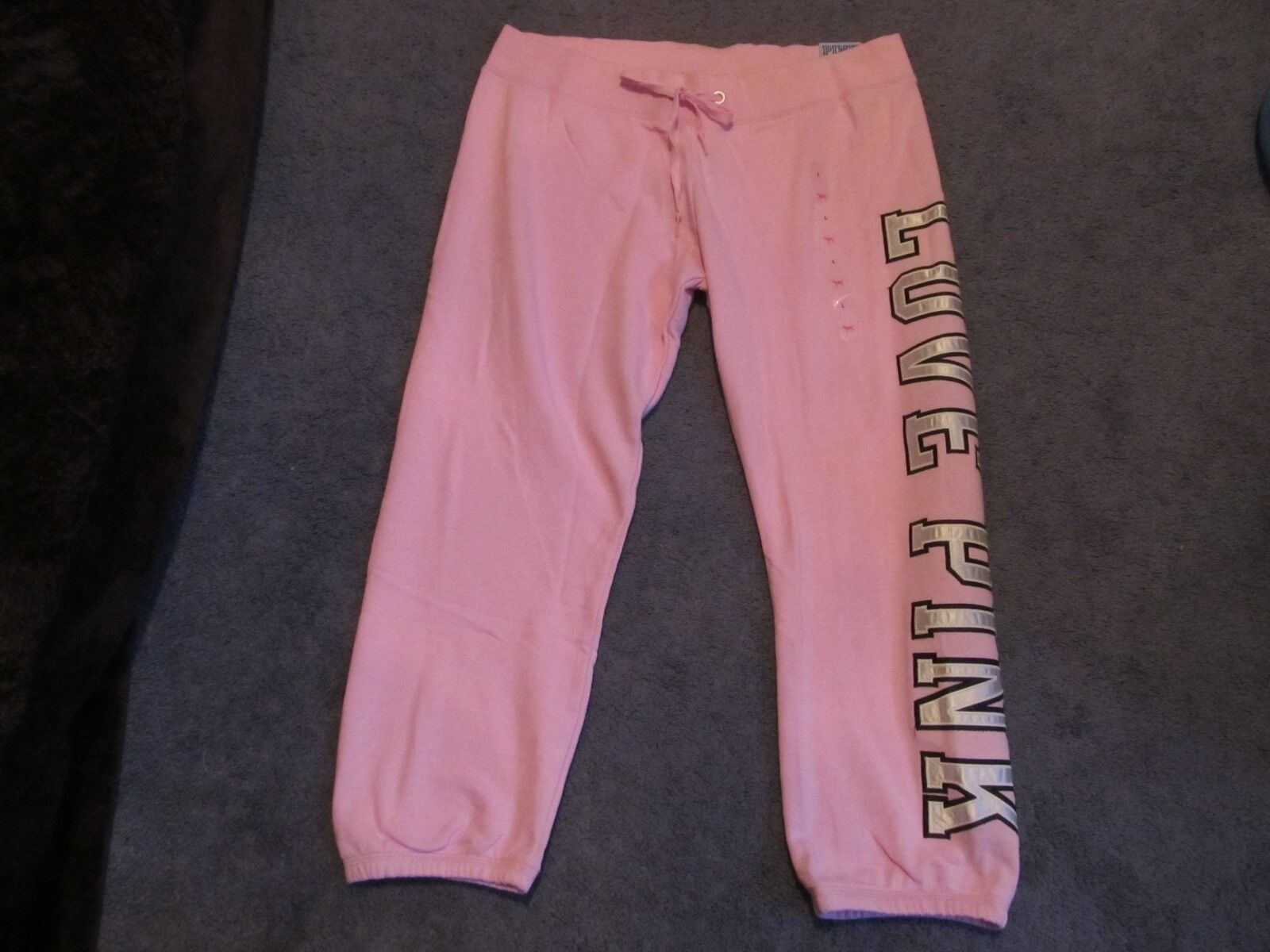 NWT VICTORIA'S SECRET PINK SIGNATURE PANTS  LIMITED EDITION LARGE PINK