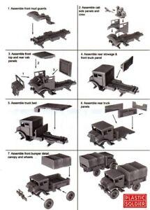 Plastico-Soldado-Aleman-Britanico-amp-Commonwealth-CMP-15cwt-Camion-1-Armazon