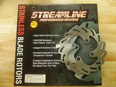 F2-ROT3R STREAMLINE STAINLESS STEEL RIGHT SIDE FRONT ROTOR BRAND NEW UNUSED