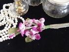 VELVET MILLINERY FLOWERS VIOLAS- deep pink/cerise