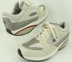dbcaf14d030d Image is loading MBT-Moja-White-Silver-Gray-Leather-Synthetic-Walking-