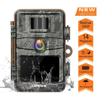 "Campark Trail Camera 14MP 1080P HD Game Hunting Cam 940nm IR Night Vision 2.4/"""