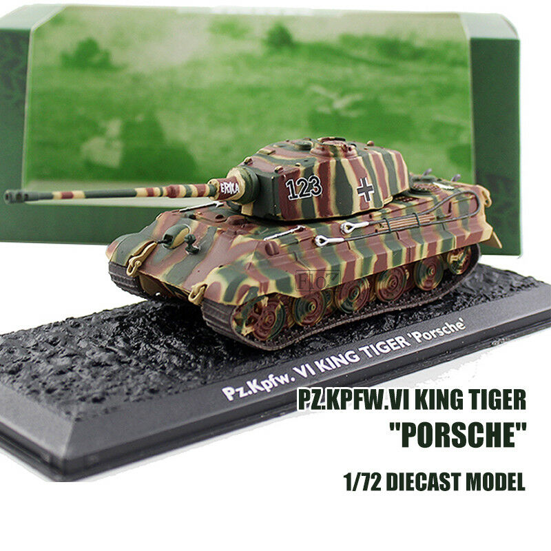 Pz.Kpfw.VI KING TIGER  Porsche  1 72 DIECAST MODEL TANK ATLAS