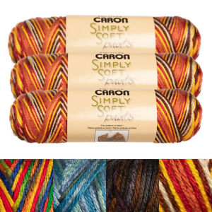 3pk-Caron-Simply-Soft-Paints-100-Acrylic-Yarn-Medium-4-Knit-Crochet-Skein-Soft