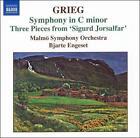 Grieg: Symphony in C minor; Three Pieces from 'Sigurd Jorsalfar' (CD, Jun-2007, Naxos (Distributor))