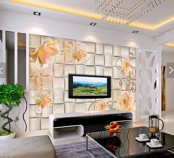 3D Gemalte Blumen Natur9 Tapete Tapeten Mauer Foto Familie Tapete Wandgemälde DE