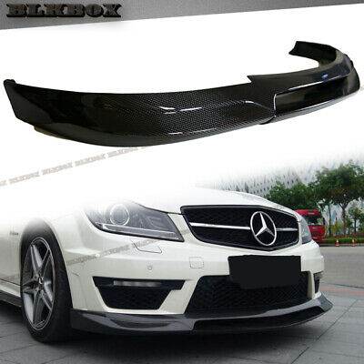 FRP Carbon Fiber GH Front Lip For 08-11 W204 C-Sport Sedan with Stock AMG Bumper