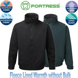 FORTRESS-Men-039-s-Harris-BOMBER-Jacket-Waterproof-Windproof-Fleece-Lined-QUALITY