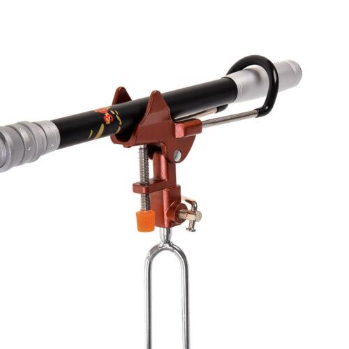 2 in1 Rutenhalter Erdspeer Ständer Rutenauflage Halterung Winkelverstellbar N1K5