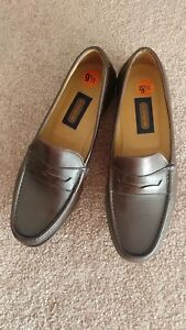 24d2e185177 Coach J820 Mens Penny Loafer Brown Leather Size 9.5D Made in Italy ...