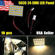 10X Warm White LED Light RV Trailer Panel 24-SMD 5630 + 1156 /BA15S &T10/168