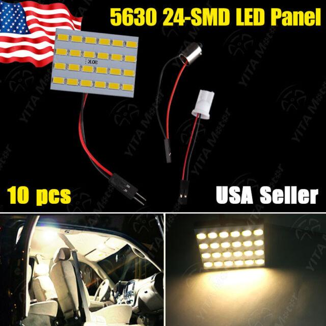 10X RV Trailer High Power 5630 Panel Warm White LED Light + 1156 /BA15S &T10/168