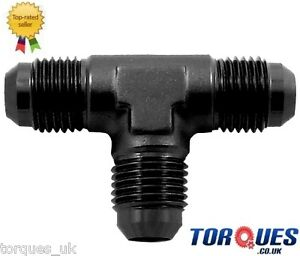 AN-16-AN16-JIC-16-Flare-Tree-T-Piece-Adapter-Fitting-in-Black