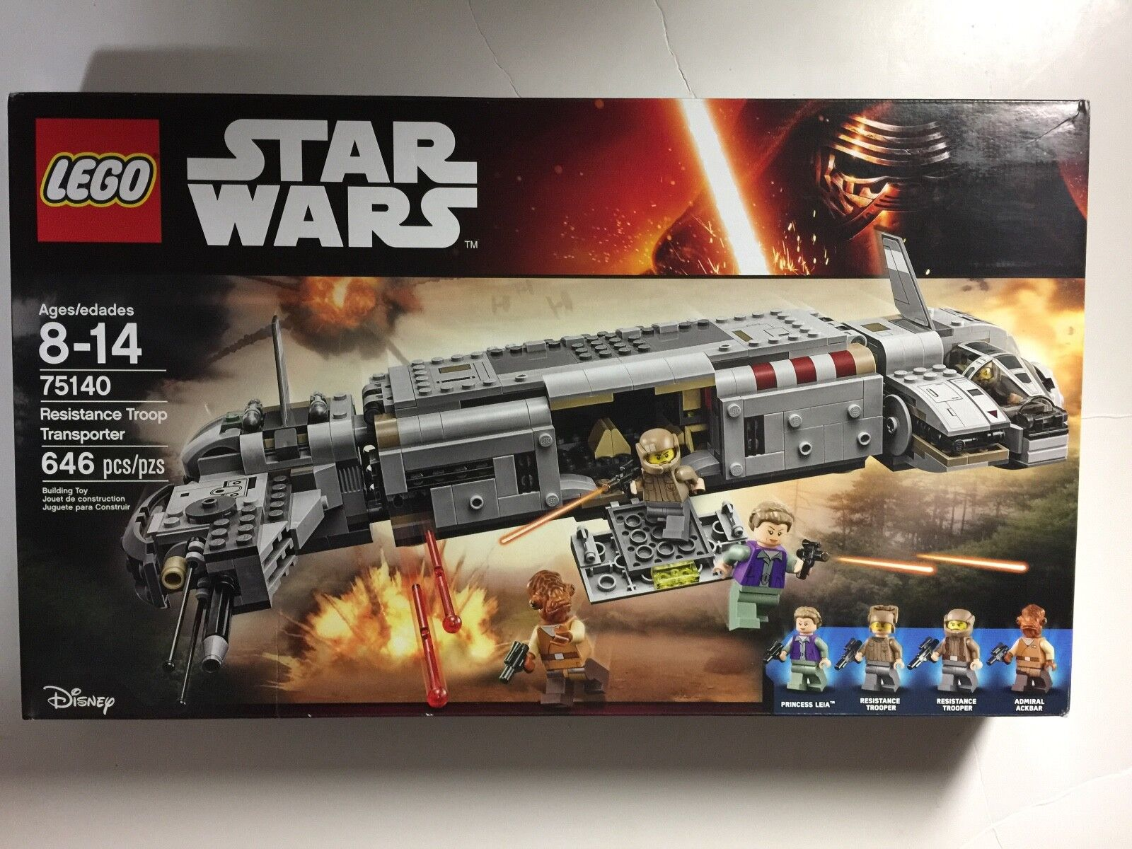 LEGO SET STAR WARS 75140 RESISTANCE TROOP TRANSPORTER  FACTORY SEALED NEW IN BOX
