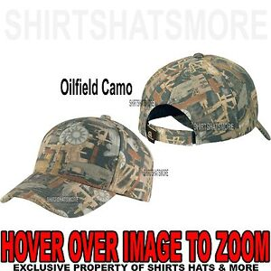 Men s Oilfield Camo Hat Baseball Cap Hunting Adjustable NEW ... cb74d6d5c04