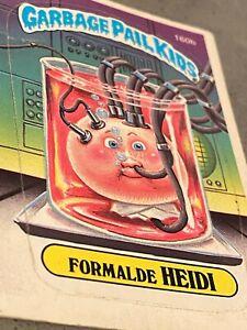 1986 Topps OS4 Garbage Pail Kids 160b FORMALDE HEIDI Trading Card DIECUT ERROR