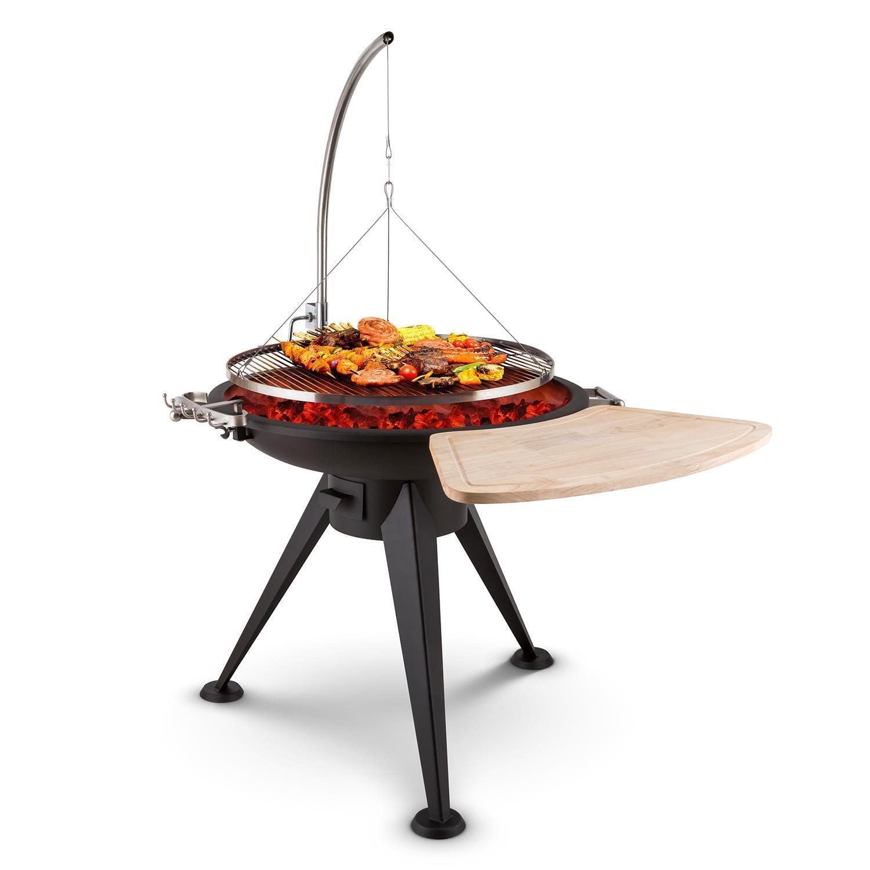 (RICONDIZIONATO) Barbecue Bbq Griglia Meat Xxl Carne Pesce Sospesa Bracere Legno