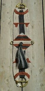 100-Mohair-Vaquero-Style-Girth-Cinch-w-Shu-Fly-Natural-Rust-Soft-Black-30-034