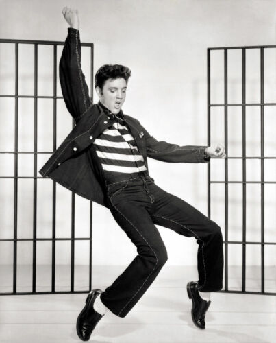 GLOSSY PHOTO PICTURE 8x10 Elvis Presley Dancing On The Tip Of The Feet