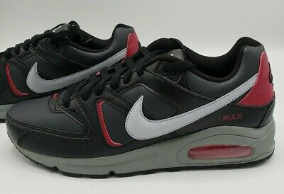 nike air max command casual shoes black noble red cd0873