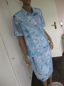 Anzüge & Anzugteile rock Blumen Streng Basler Exclusives Kostüm 42 Kurzarm Hellblau Bluse Kleidung & Accessoires