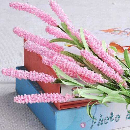 Details about  /12 Heads Bouquet Silk Artificial Lavender Fake Garden Plant Flower Home Deco #UK