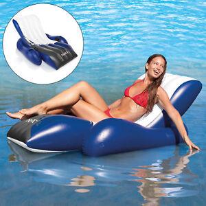 Intex-Schwimmliege-Pool-Liege-Sessel-Lounge-Wasserliege-Badeinsel-Luftmatratze