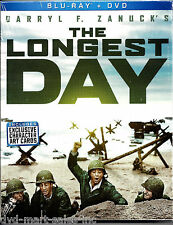 The Longest Day  (Blu-ray / DVD, 2014, 3 Disc Set)  Brand New