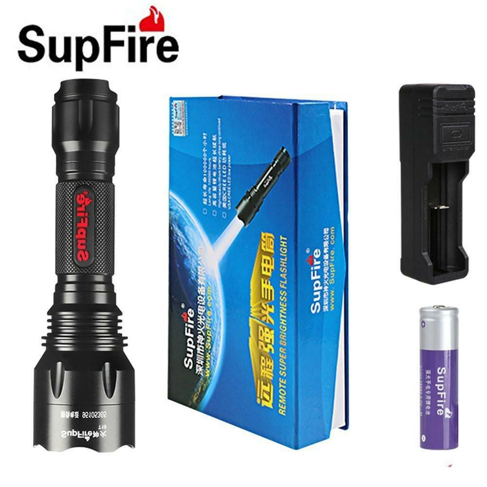SupFire T10 Flashlight CREE  T6 LED tactical Waterproof Torch 1100 Lumens 5 Modes  select from the newest brands like