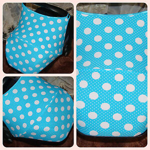 Image Is Loading Car Seat Hood Sun Canopy Dots Turquoise Maxi