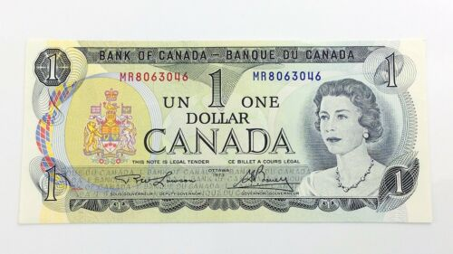 1973 Canada 1 One Dollar MR Canadian Uncirculated Consecutive Banknotes I123