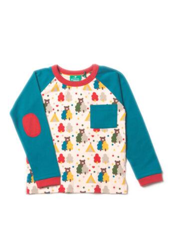 Little Green Radicals Organic Raglan T shirt top 0 3 6 9 12 18 24 bear red blue